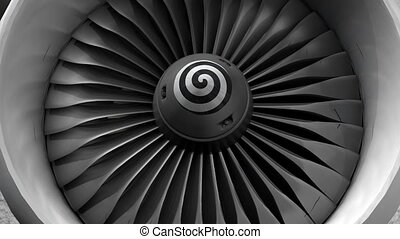 Turbine engine front view.