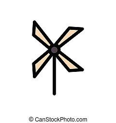 turbine flat color icon