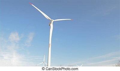 turbine, générer, vent