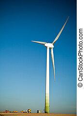 turbine, gebouw stek, wind