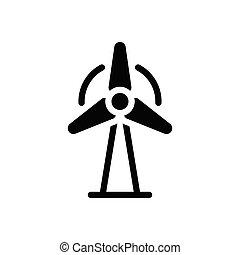 turbine  glyph flat icon