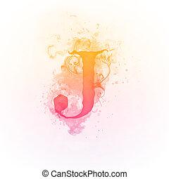 turbine, j, soleggiato, lettera