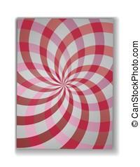 turbine, modello, illustrazione, rays.double, fondo., vettore, elica, radiale, turbine, rotazione, helix., design.