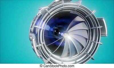 turbine, moteur jet, parties