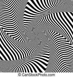 turbine, movement., arte, astratto, design., illusione, op