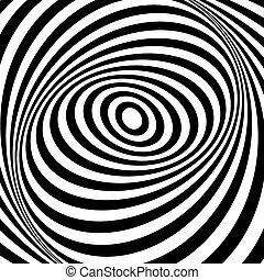 turbine, movement., arte, design., illusione, op