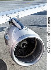Turbine of airplane