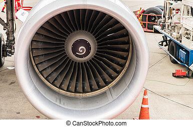 Turbine of airplane .