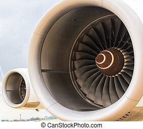 Turbine of airplane Wing and jet engine
