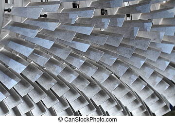 turbine rotor blades - turbine blades texture background