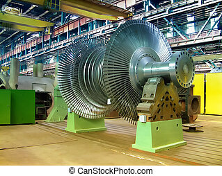 Turbine rotor from a steam power plant.