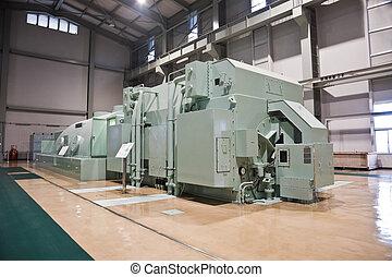 turbine, station, alimentez générateur