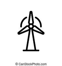 turbine  thin line icon