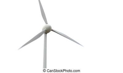 turbine, vent, blanc