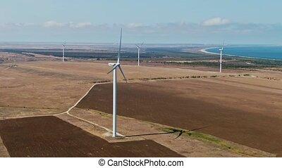 turbine, vent, développement, renouvelable, concept, environnement, énergie, amical, soutenable