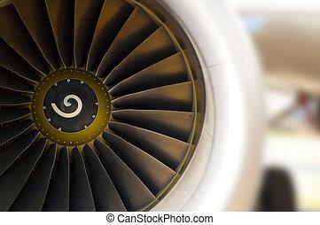 turbine, von, motorflugzeug
