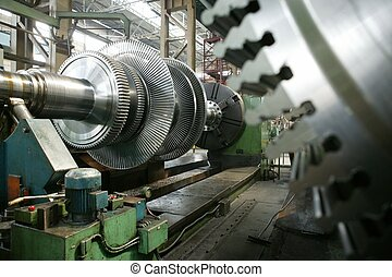 turbine - works, factory, mill; plant