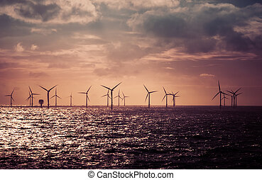 turbines, noord wind, zee