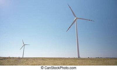 turbines, puissance, électrique, éolienne