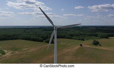 turbines, vent, électricité