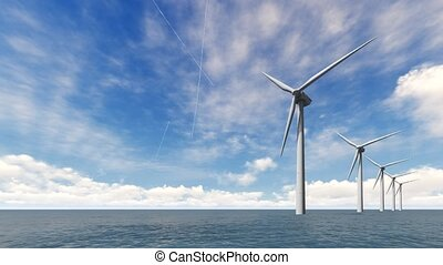 turbines, vent, mer