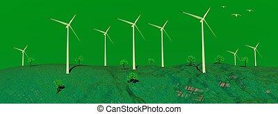 turbines, vent, nature