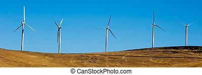 turbines., viento