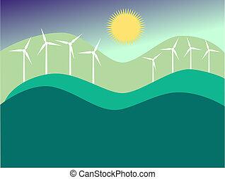turbins, vento
