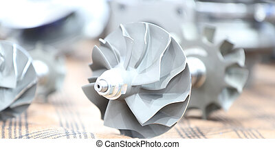 Turbo charger component parts for diesel engine