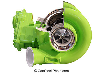 turbo charger isolated on white
