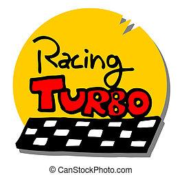 turbo, dessin animé, icône