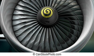 "Turbo jet engine front view. - ""Computer generated, ..."