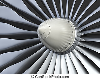 Turbo jet engine - Jet engine, turbine blades of airplane,...