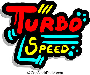 Turbo sticker