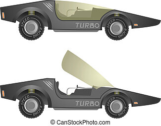 Turbo vector car
