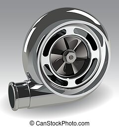 turbo, wektor, kompresor
