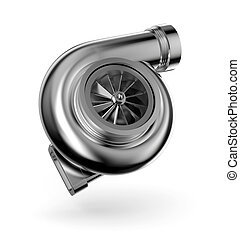 Turbocharger 3d. Turbine for auto