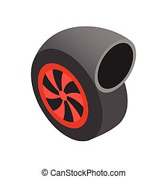 Turbocharger isometric 3d icon on a white background