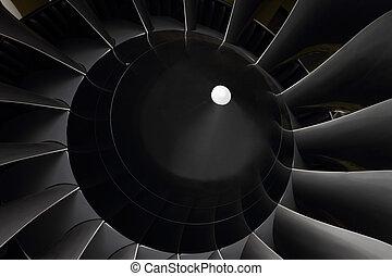 turbofan, ventilador, motores, Hojas