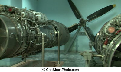 Turbojet aircraft engine