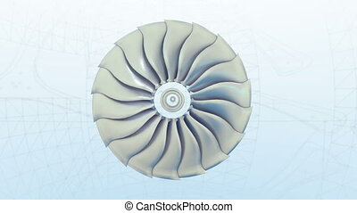 Turbojet Airplane Airliner Engine White day Metallic Grows into a plane Jet