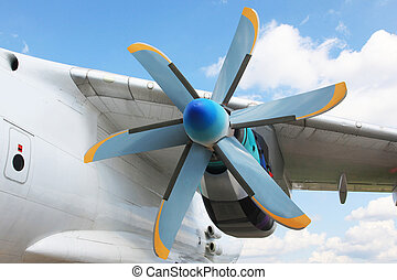 Turboprop jet engine - A view of an old turboprop-powered...
