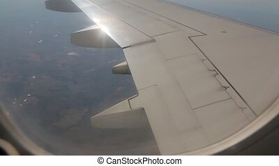 Turbulence View From Aircraft - The turbulence view from...
