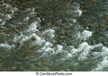 Turbulent Flow - Turbulence in surface of water flowing...