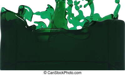 turbulent green liquid filling the frame. tinted oil