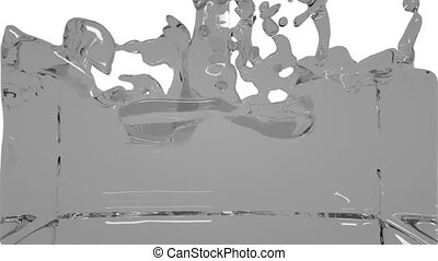 turbulent grey liquid filling the frame