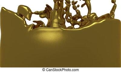 turbulent liquid gold filling the frame