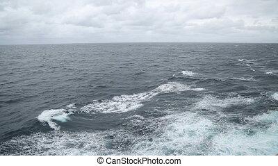 turbulent sea in the ocean