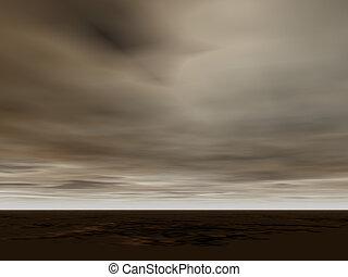 Turbulent Skies - Almost monochrome turbulent seascape