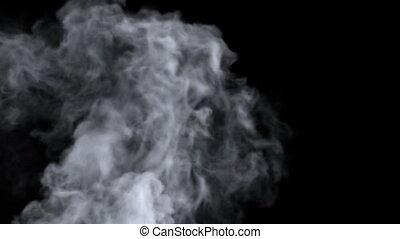 Turbulent Smoke - Black background with ? fast moving smoke...